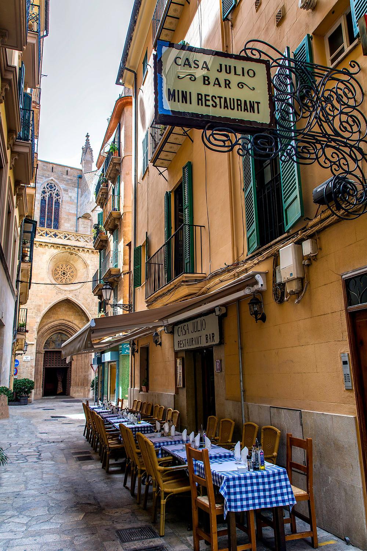 Restaurant in der Altstadt von Palma de Mallorca