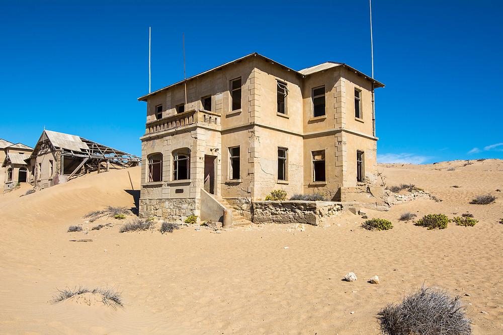 In der heutigen Geisterstadt Kolmanskop begann das Diamantenfieber von Namibia