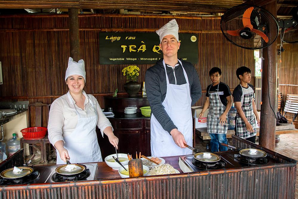 Banh Xeo Vietnamesische Pfannkuchen Rezept