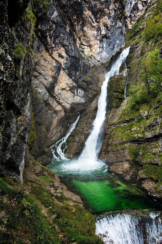 Der Savica Wasserfall darf auf einer Slowenien Rundreise nicht ausgelassen werden