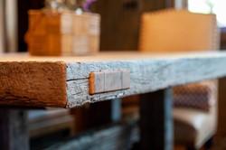 Table Detail in Breakfast Nook
