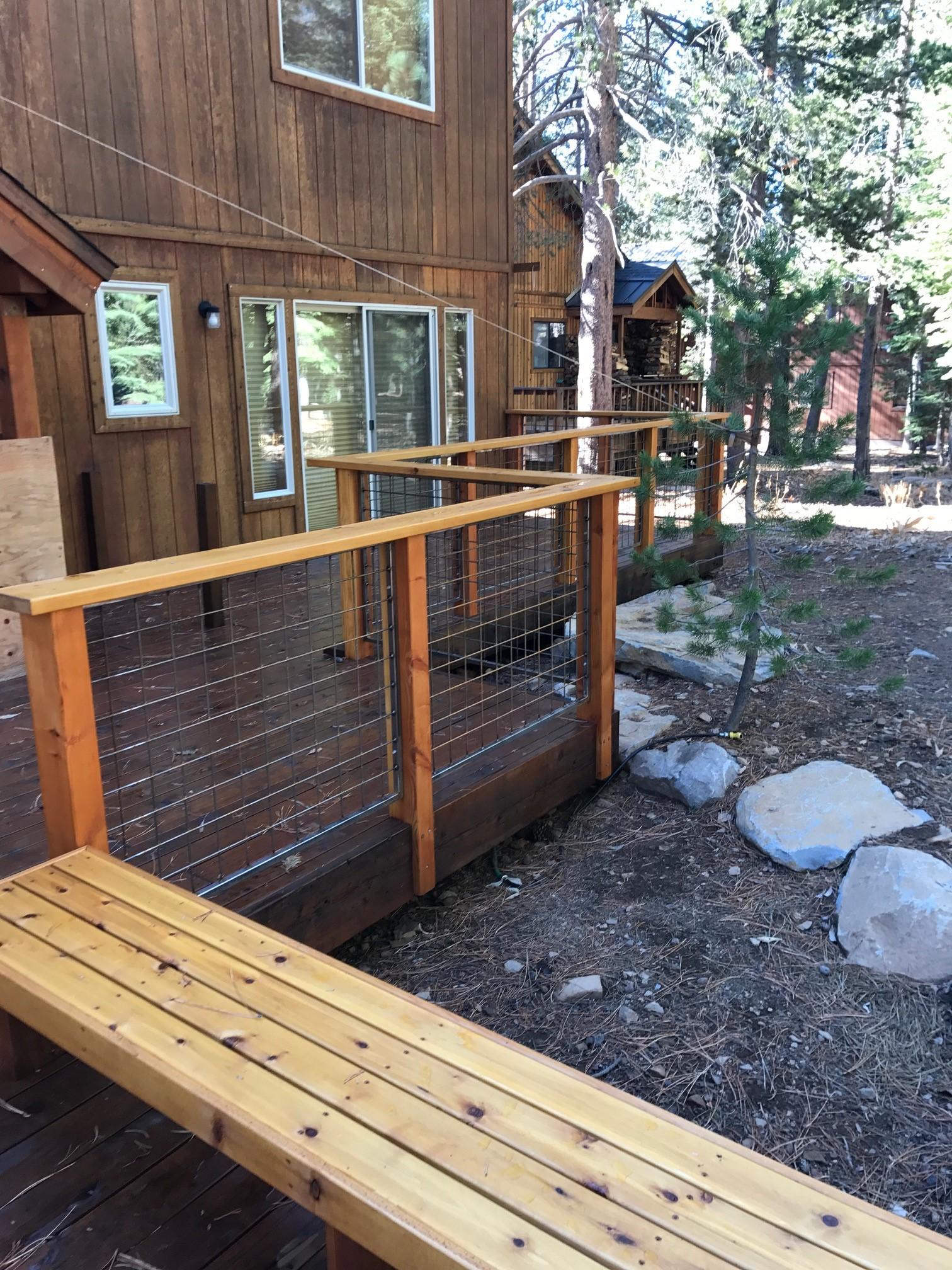 New Deck in Tahoe Donner