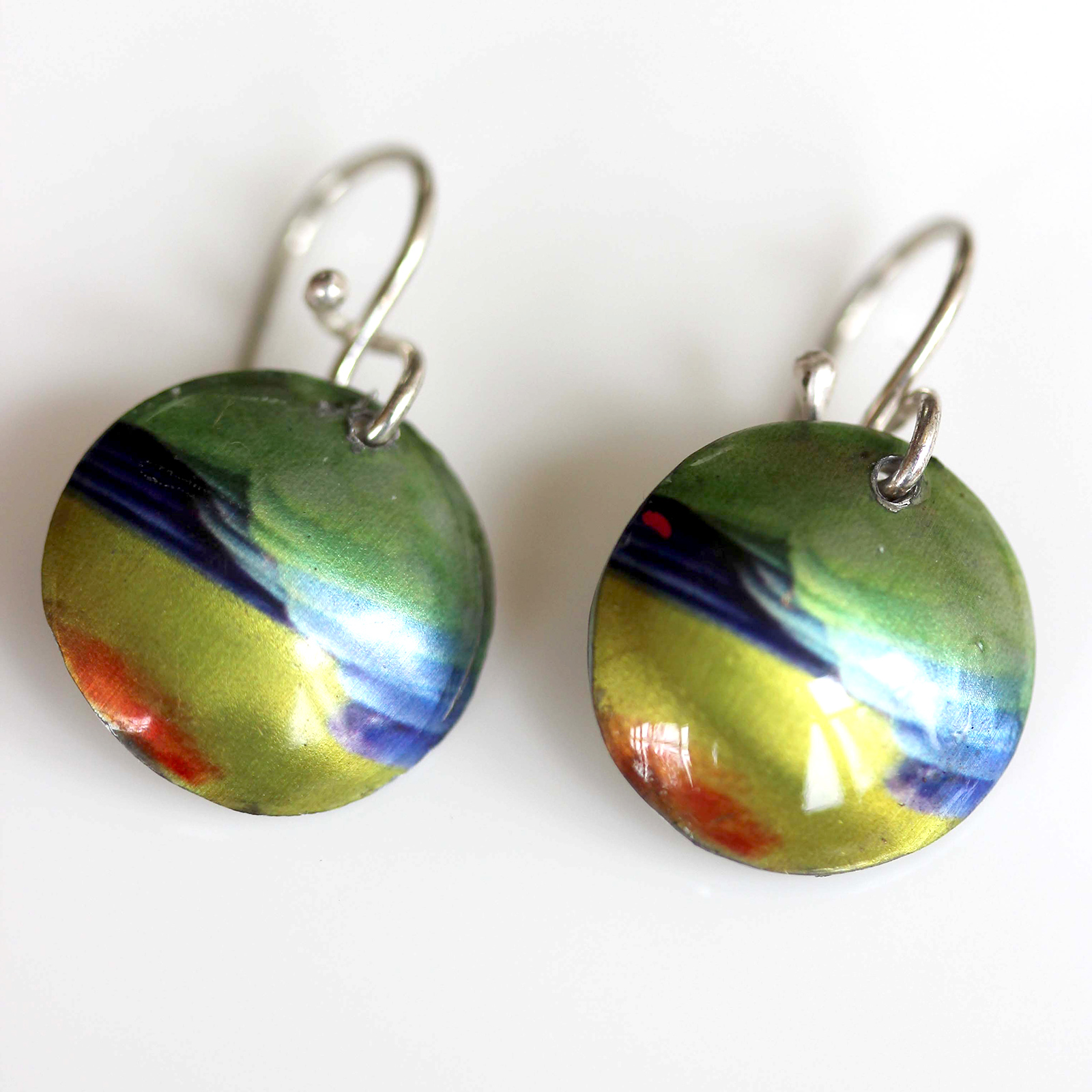 Orange-bellied parrot earrings