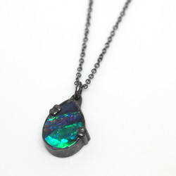 Patinated opal necklace