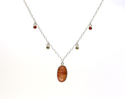 Carnelian and citrine necklace