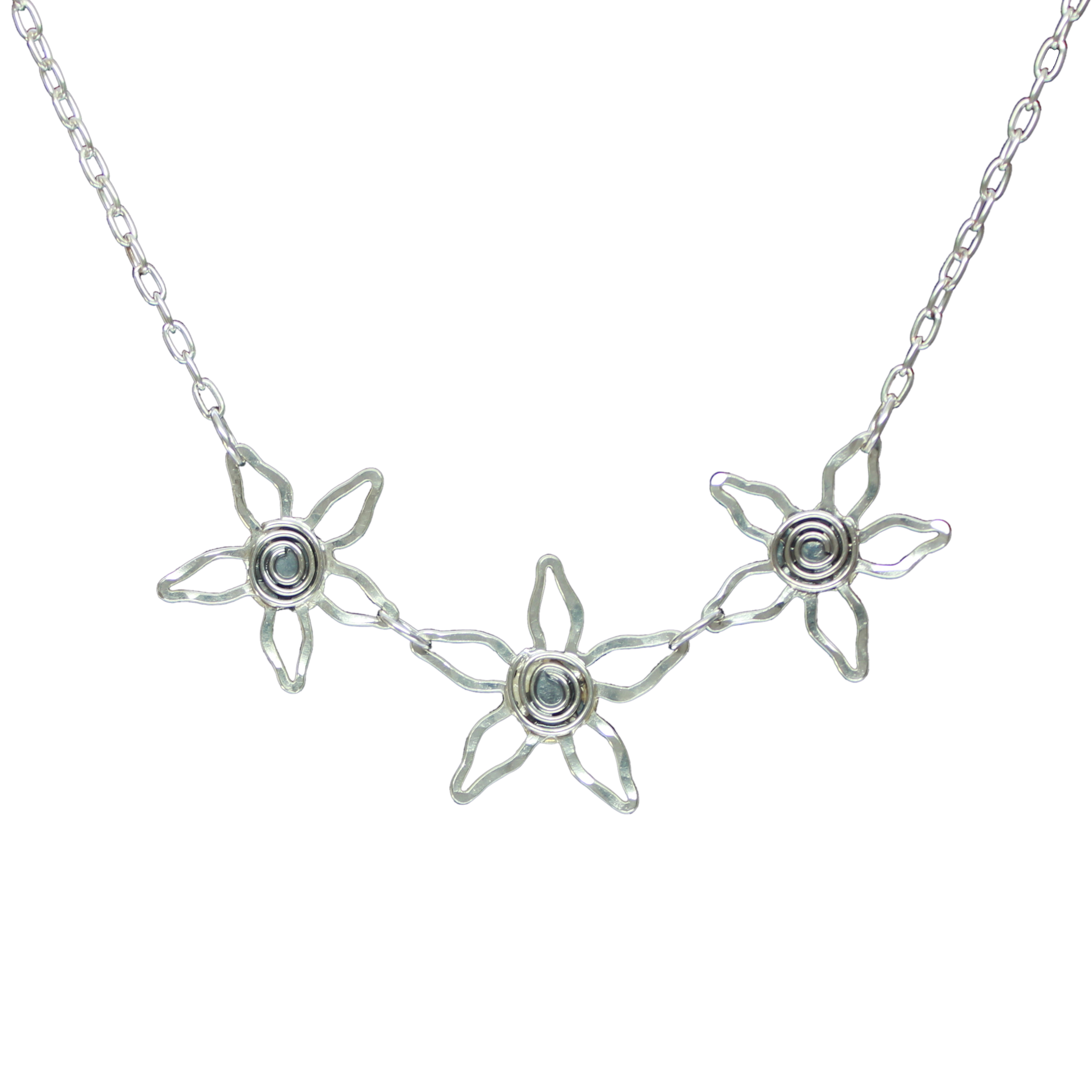 Spiral flower necklace