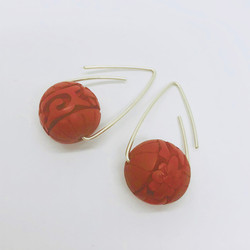 Cinnabar earrings
