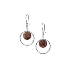 Ring and disk earrings (copper)