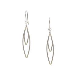 Cate Lowry - Open leaf shape earrings