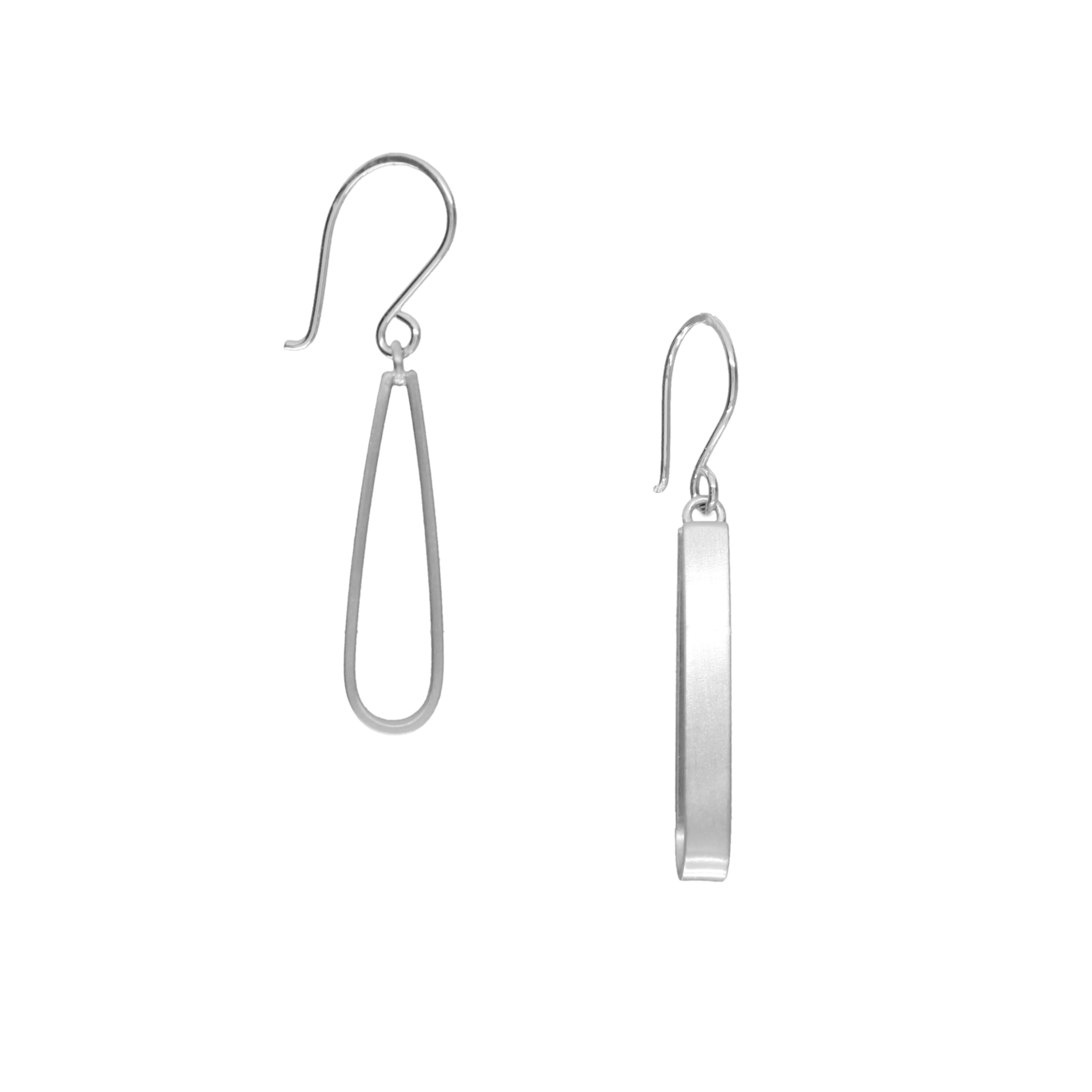 Elegant loop earrings (matte)