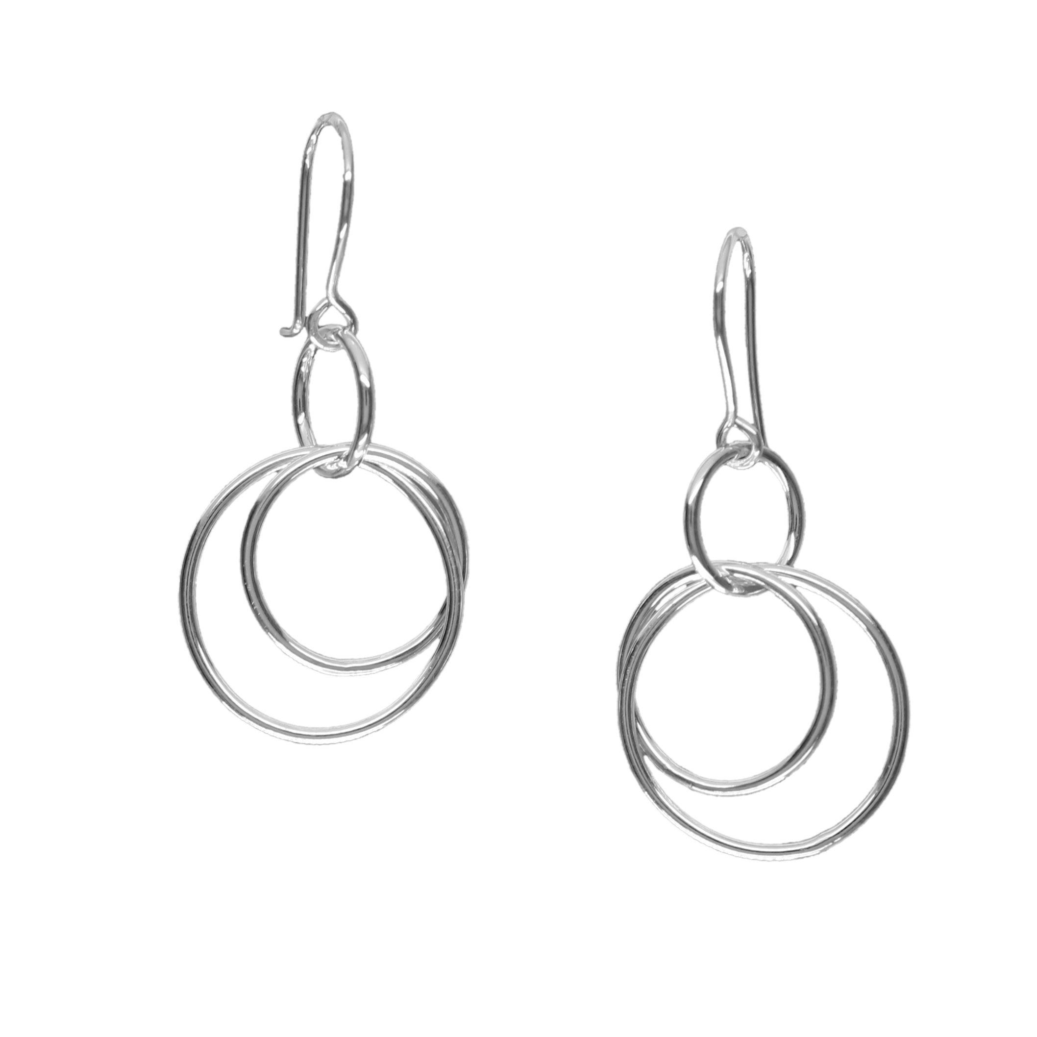Circles single-drop earrings