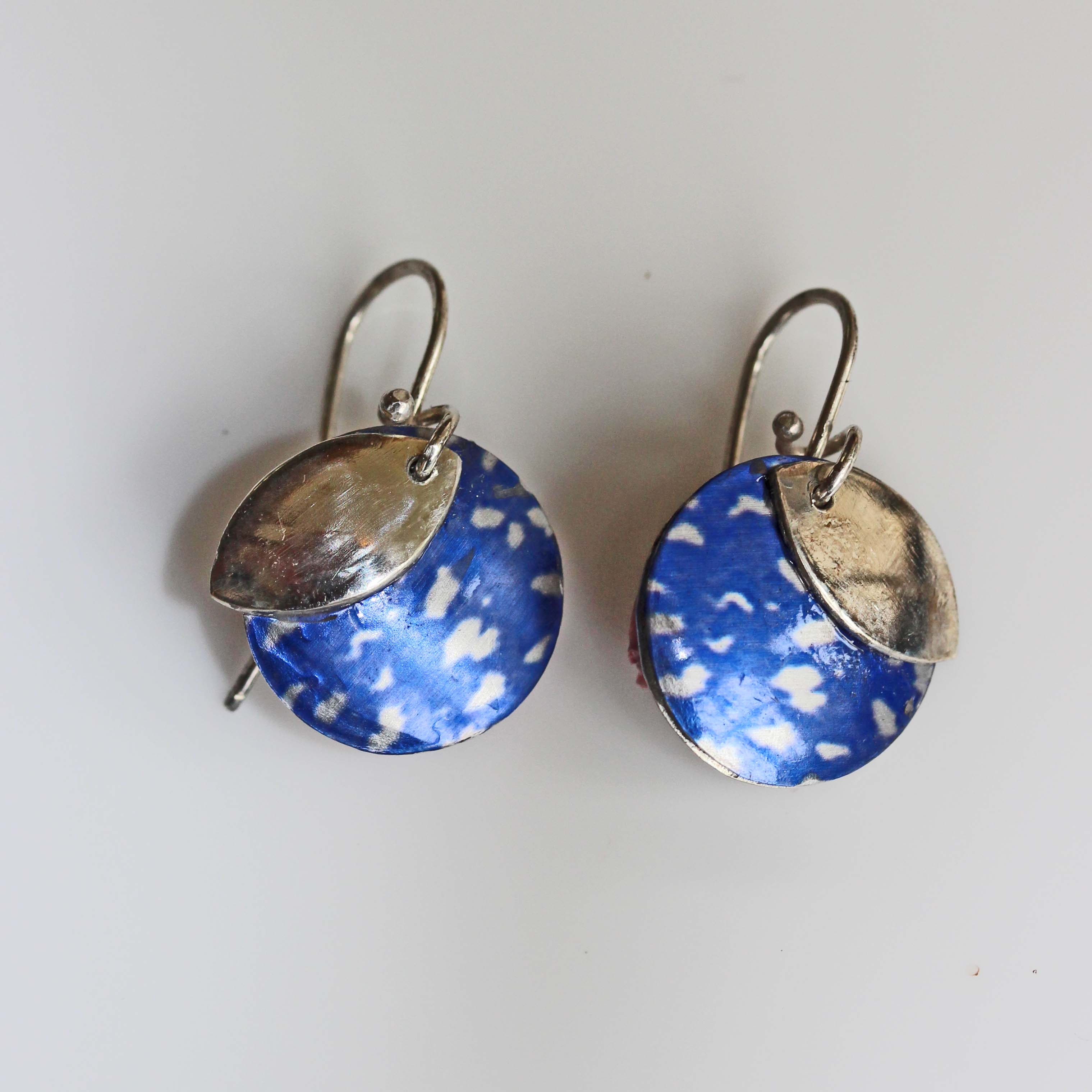Midnight blue quoll earrings
