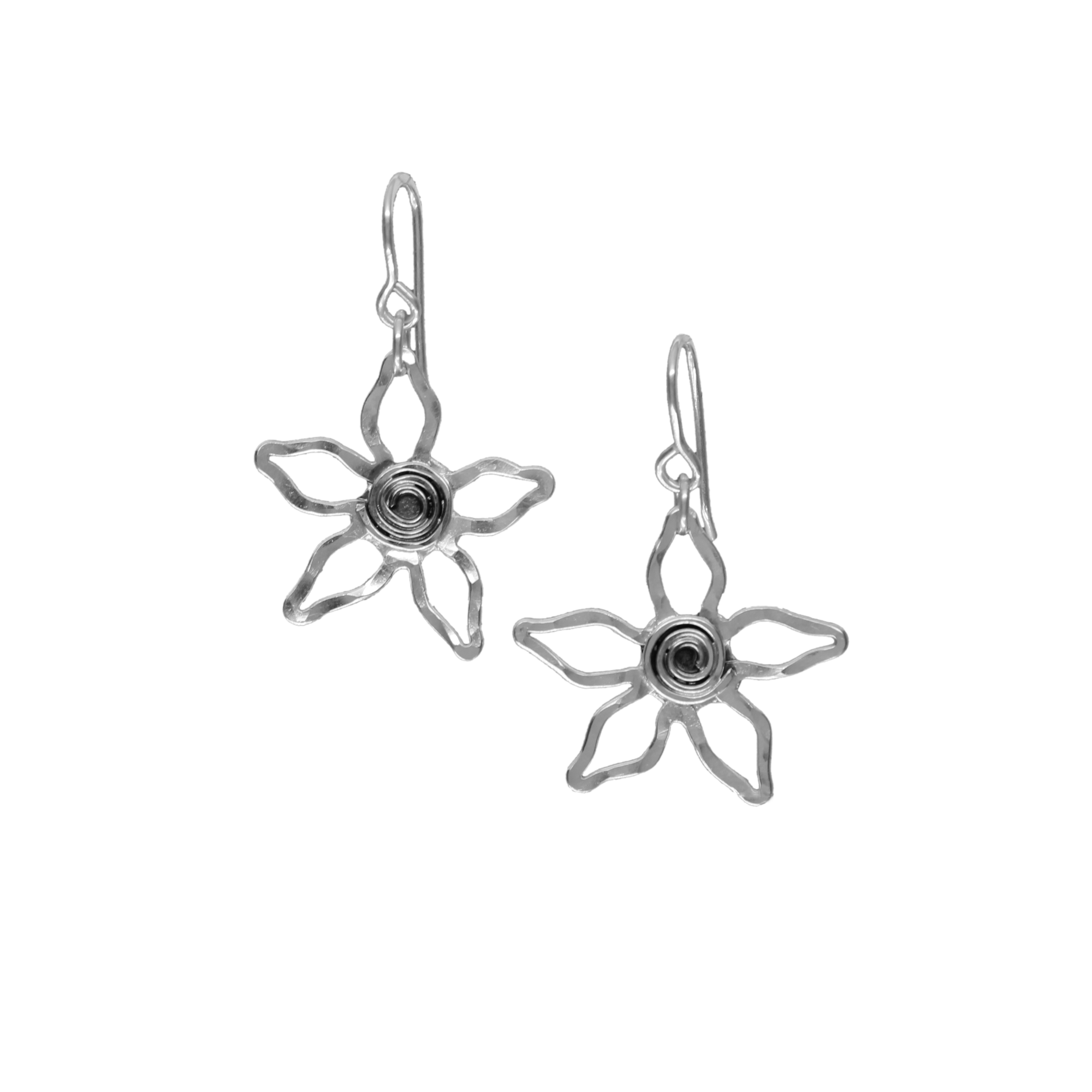 Spiral flower earrings