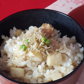 旬の味覚 「タケノコご飯にしびれじゃこ」