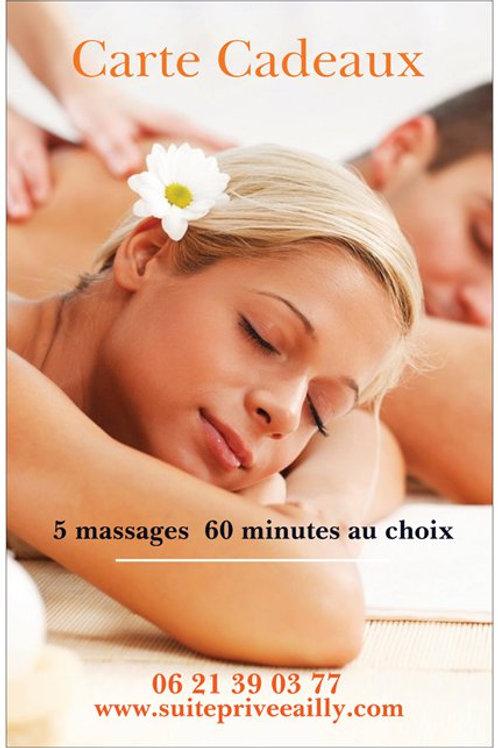 5 massages 60 minutes au choix