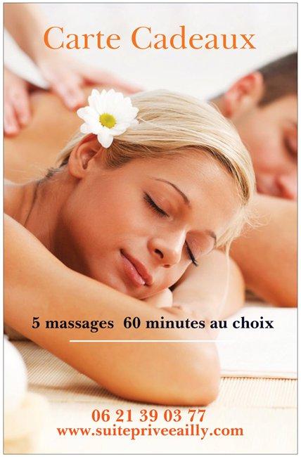 Cadeau 5 massages au choix
