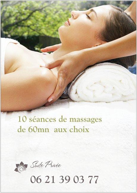 forfait 10 massages de 6Ominutes