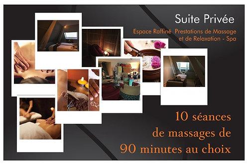 10 massages de 90 minutes