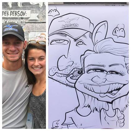 A.J. Jensen Festival Caricature