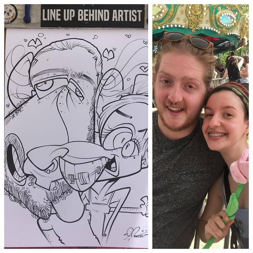 AJ Jensen Festival Caricature
