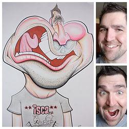 AJ Jensen Caricature