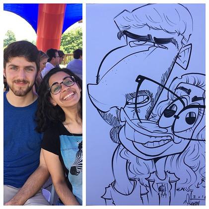 A.J. Jensen Party Caricature