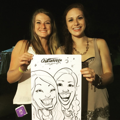 Bobby Morris Party Caricature