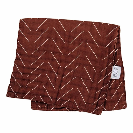 Rust Mudcloth Burp Cloth
