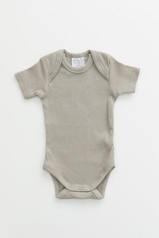 Sagebrush Organic Cotton Ribbed Bodysuit