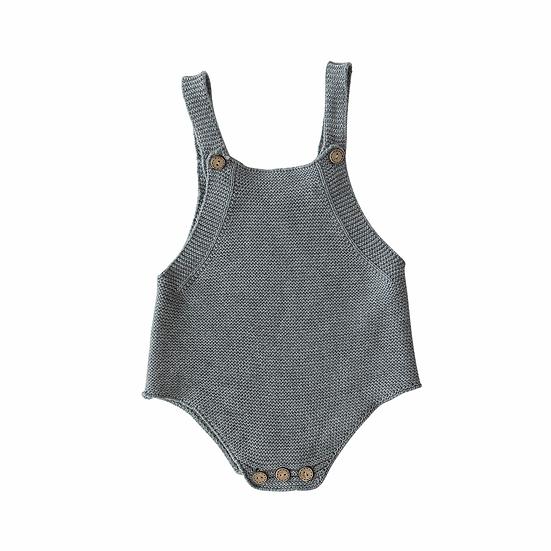 Grey Knit Romper