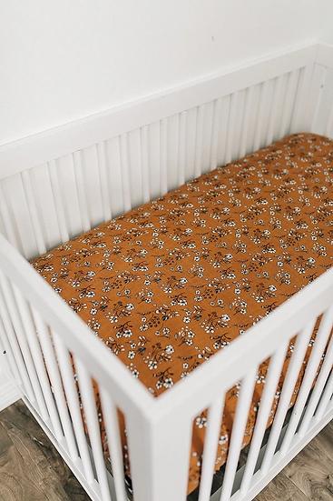 Vintage Floral Crib Sheet