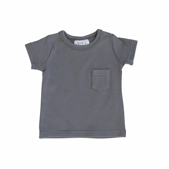 Slate Cotton Pocket Tee