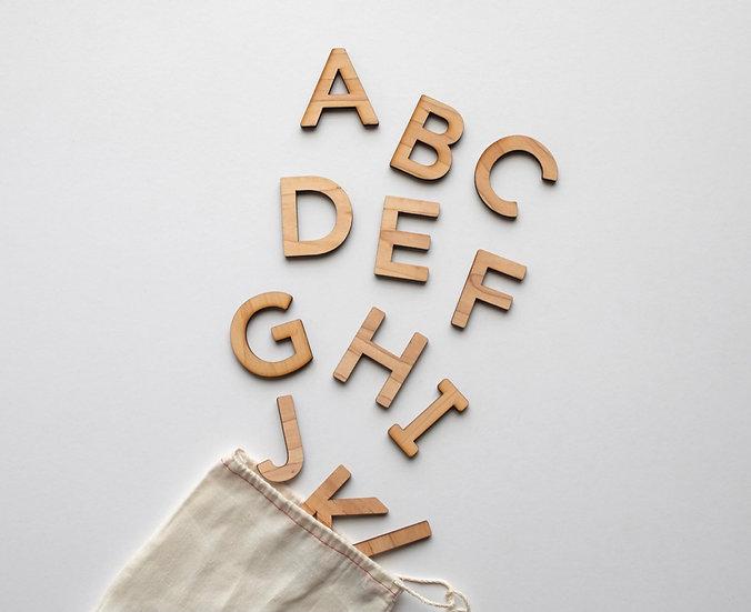 Wooden Uppercase Alphabet Set