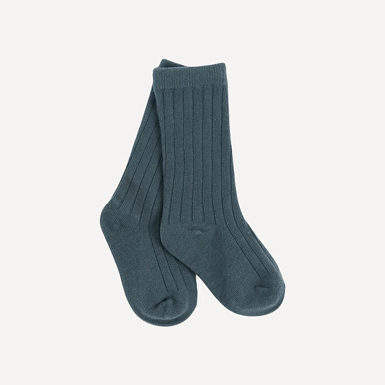 Organic Cotton Rib Knee High Socks
