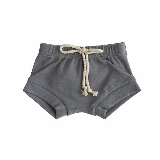 Slate Cotton Shorts