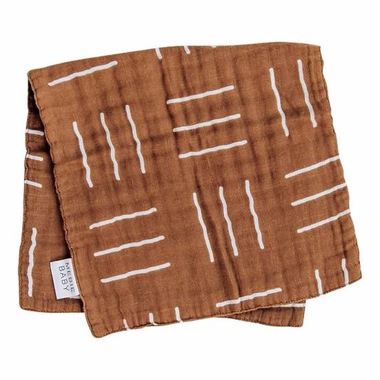Mustard Mudcloth Burp Cloth