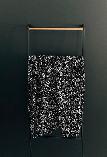 Black Vines Muslin Swaddle Blanket