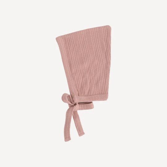 Rose Elf Bonnet- Organic Cotton Rib