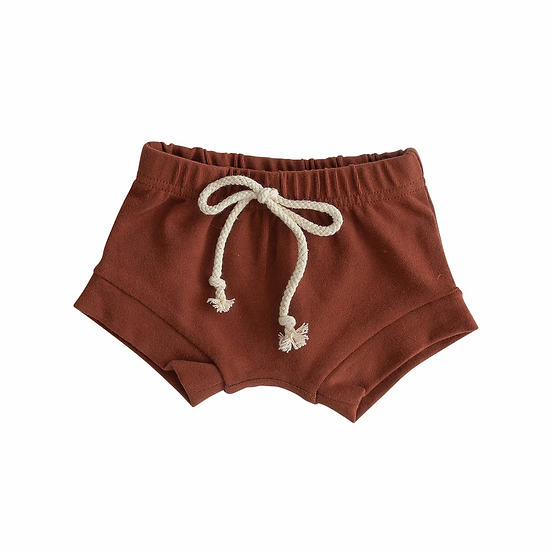 Brick Cotton Shorts