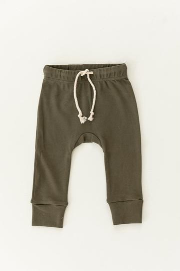 Cotton Olive Jogger Pants