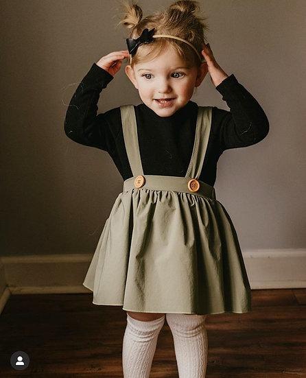 Daphne Pleated Skirt- Olive