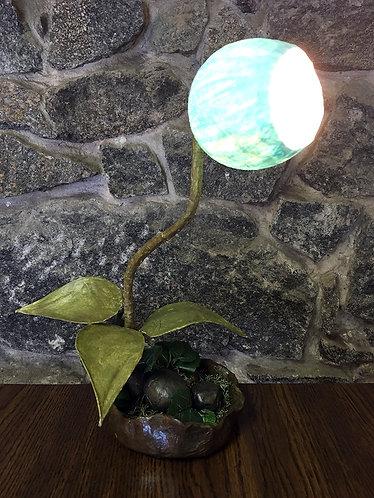 Blue Petal Table Lamp