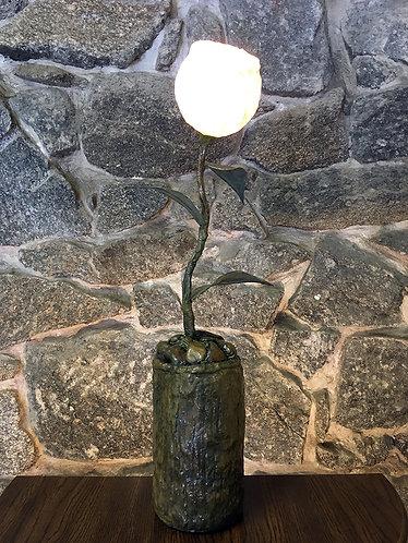 White Leaf Table Lamp