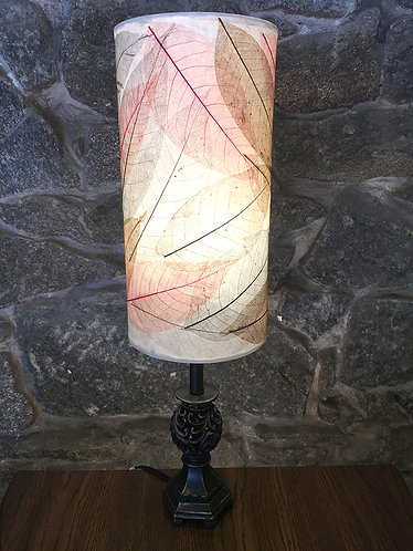 Leaf Pattern Round Table Lamp