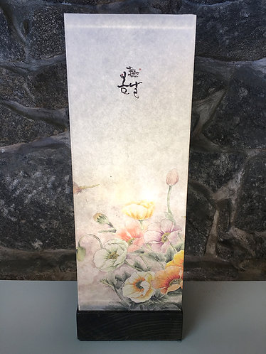 Flower Painting Square Table Lamp