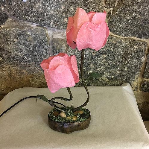 Two Pink Petal TableLamp