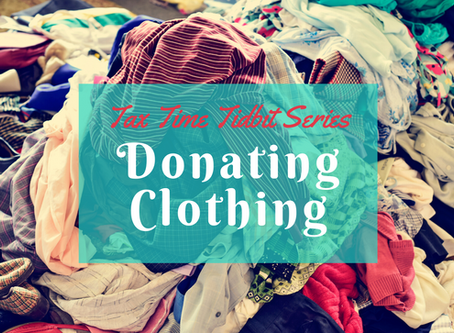Donating Clothing (Itemized Deductions Mini-Series)