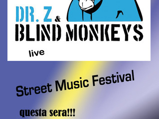 Questa sera i DR Z & Blind Monkeys allo Street Music Festival di Lainate in Piazza Dante inizio