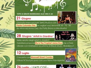 SUMMER PARTY IL GELATIERE - DAL 21 GIUGNO AL 26 LUGLIO LIVE MUSIC & CABARET