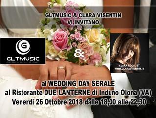 Venerdì 26 Ottobre 2018 Wedding Day serale aperto a tutte le future coppie di sposi al Ristorante 2